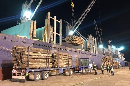 Nueva exportación de rollizos desde puertos entrerrianos