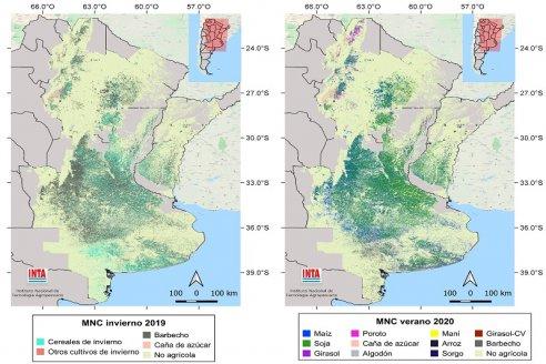 Presentan una nueva versión del mapa nacional de cultivos extensivos
