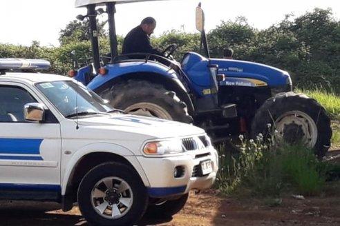 Alquiló un avión y recuperó los tractores que le habían robado