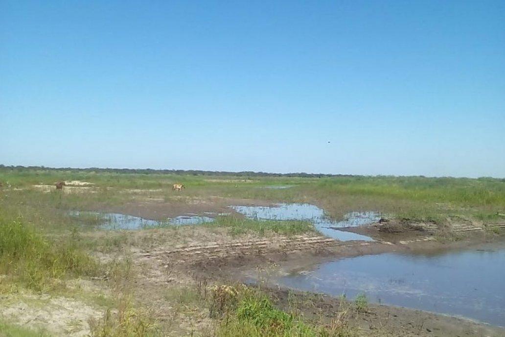Los terraplenes están en humedales que desembocan en el río Guayquiraró.