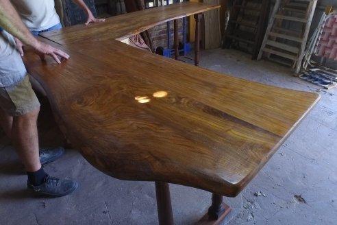 Gustavo Erbes, el trabajador rural de El Ramblón con muy buena fama de artesano de la madera