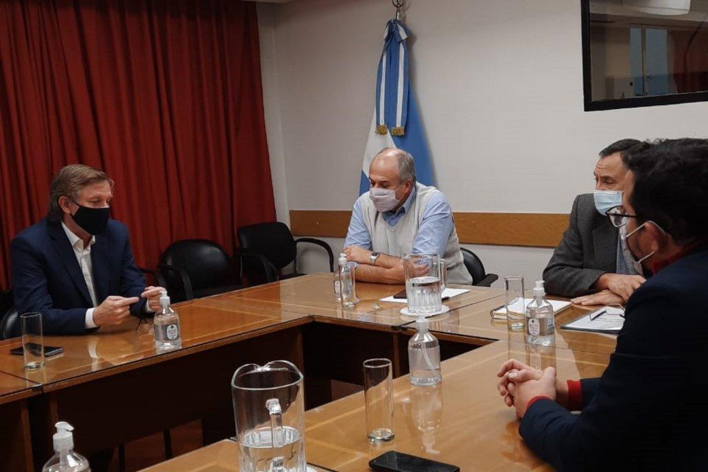 Bahillo y Amavet evaluaron con Paz y Milicevic la evolución del plan de lucha.